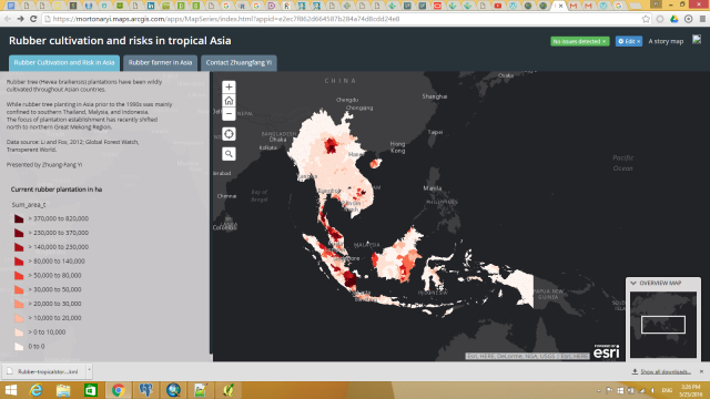 Screen shot for web map application